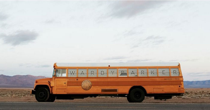 Warby Parker school bus campaign