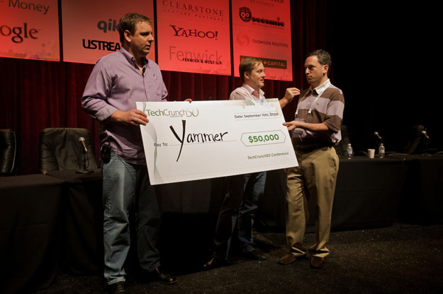 Yammer wins TechCrunch award