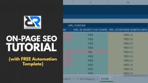 On-Page SEO checklist (with automation template)