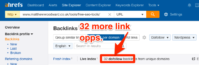 Finding new backlink opportunities