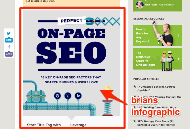 Brian Dean on page seo infographic