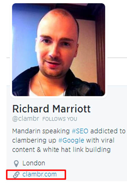 Richard Marriott Twitter profile