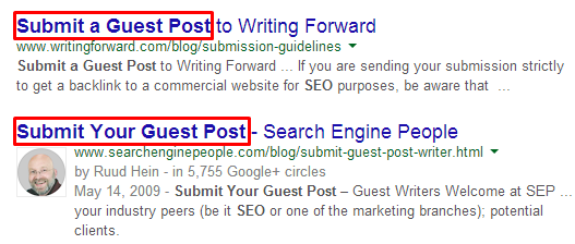 Reverse engineering guest post placements
