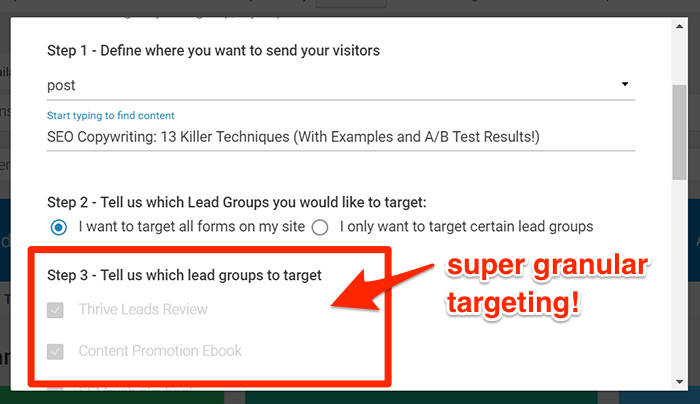 Granular targeting with Smart Links