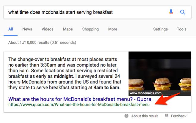 Quora thread example