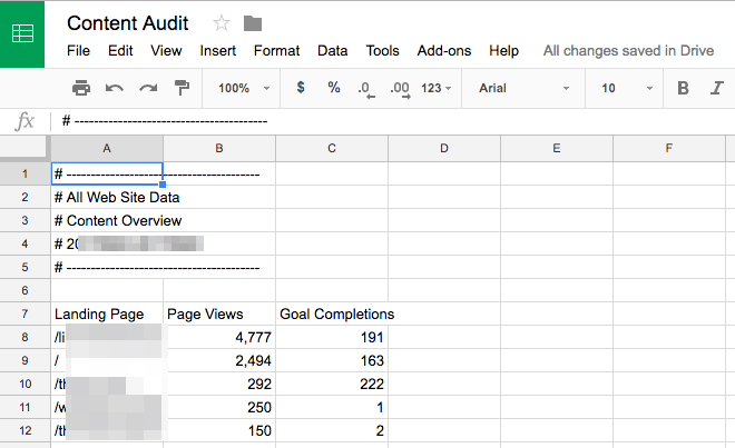Content Audit doc