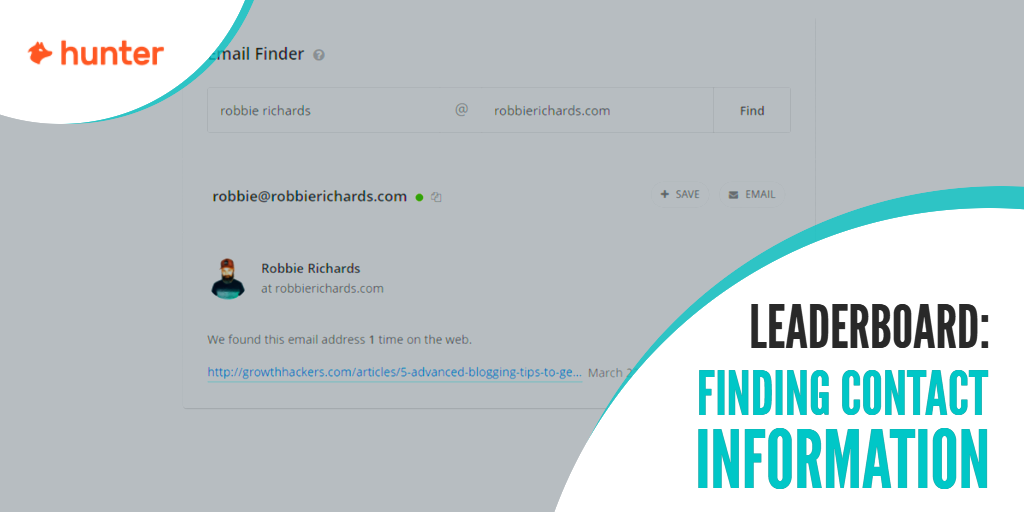 Best tools for finding contact information