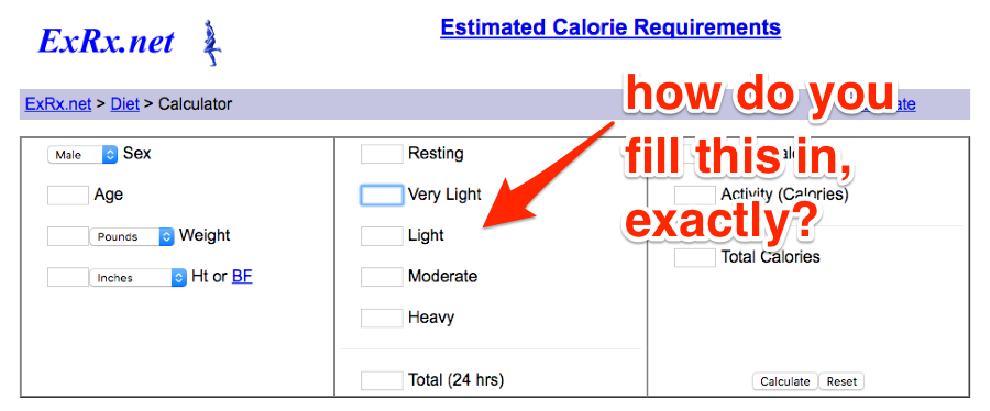 Bad calorie counter example