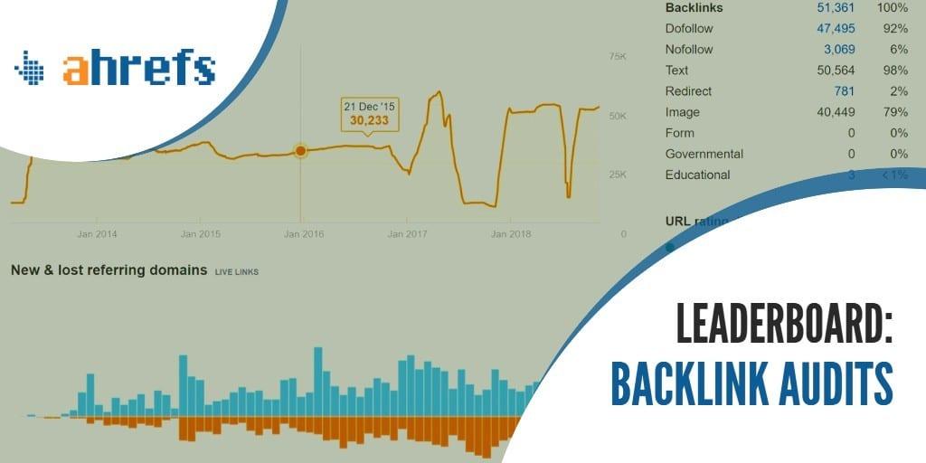 Check backlink health leaderboard