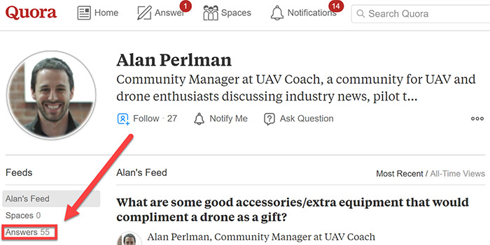 Alan Perlman's profile with 55 answers