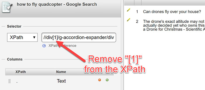 Editing X-path query