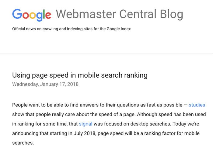 Google Webmaster Central post