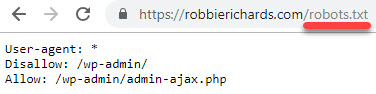 robots.txt file example