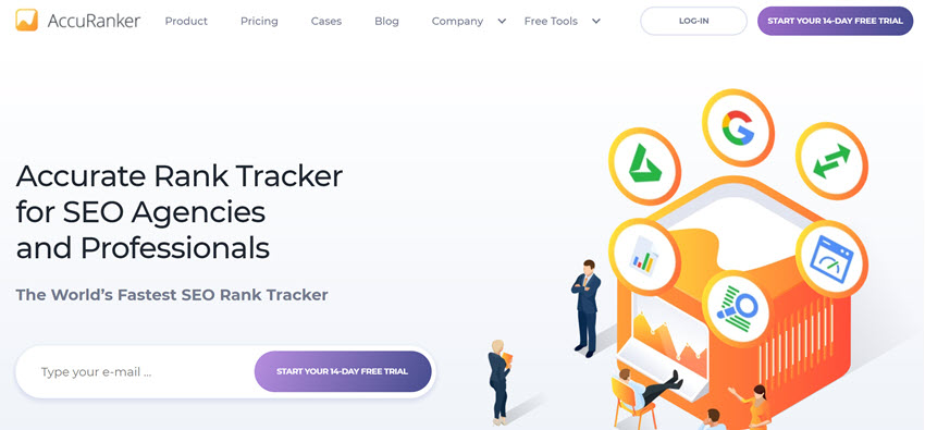 AccuRanker homepage