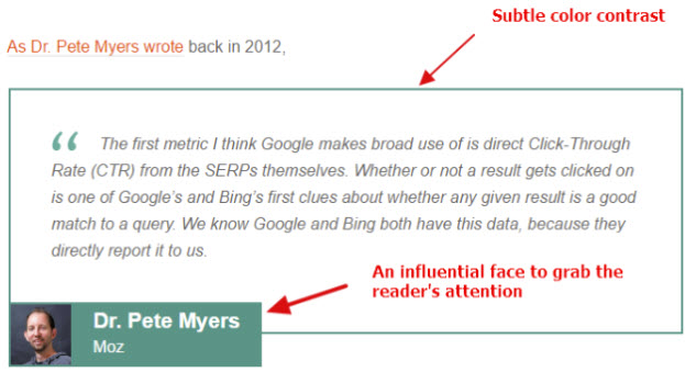 Quote from Dr. Pete Myers about copywriting