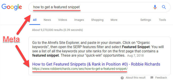 Ranking in the featured snippet for how to get a featured snippet
