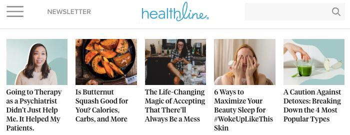 Healthline organic search competitor