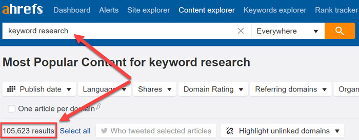 Finding guest post opportunities in Ahrefs
