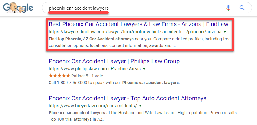 Phoenix car accident lawyer rankings