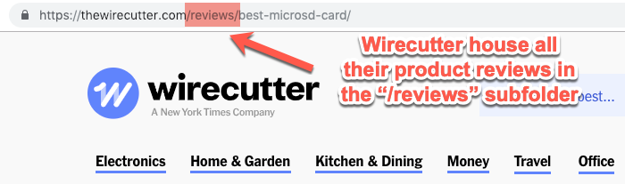 Wirecutter review subfolder