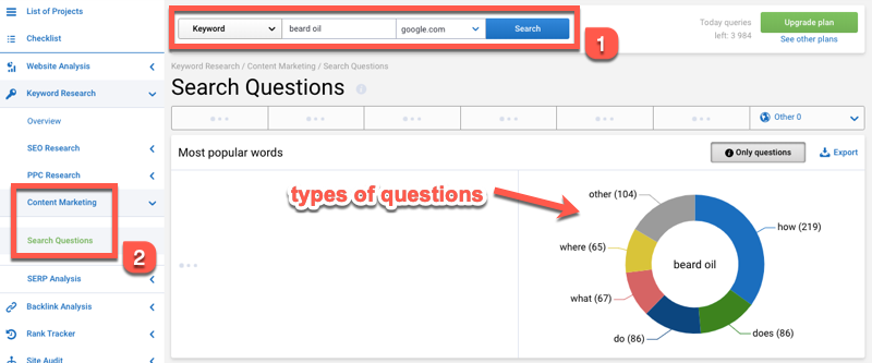 search questions 1