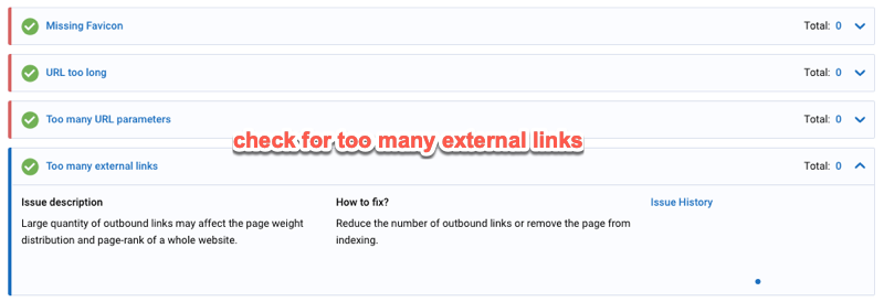 site audit external links
