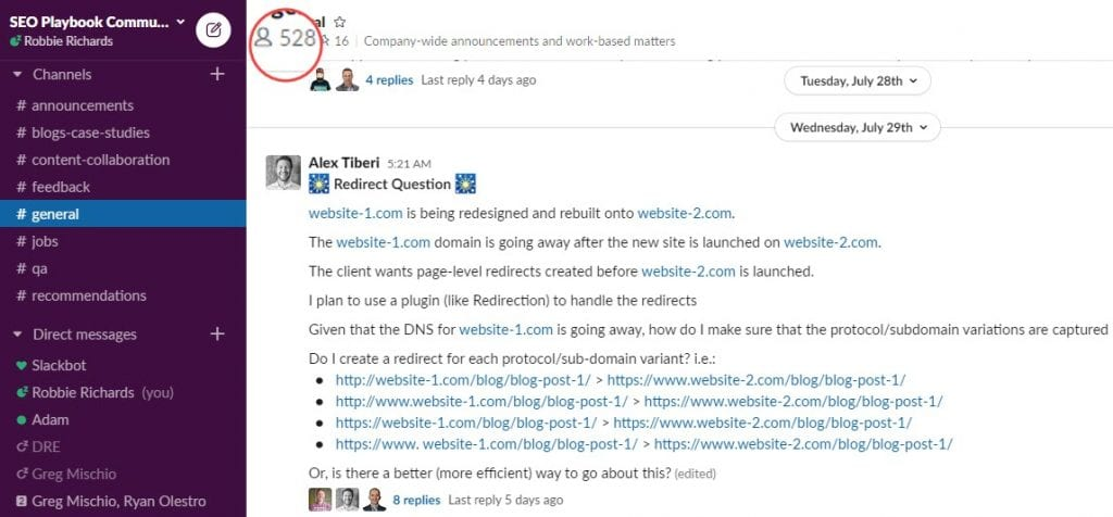 The SEO Playbook Slack Community